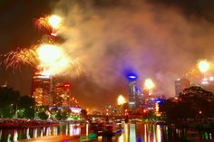 Welcome 2015! New Year's Eve celebrations from around the world.Melbourne,Australia