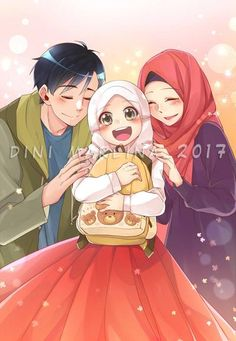 PBC kids : Doa Annisa by dinigaleri on DeviantArt Muslim Girls, Muslim Couples, Islamic People, Big Hero 6 Baymax, Islamic Cartoon, Couple Sketch, Hijab Cartoon, Islamic Girl, Cartoon Art