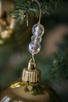 Beaded Ornament Hangers Crystal Box of 14 - Gold Wire - FREE SHIPPING  $15.95  20 gauge wire