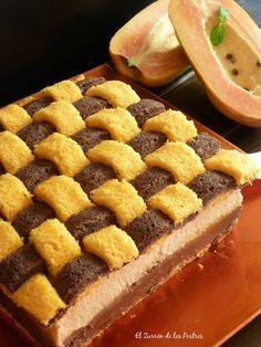 """Pastel Enrejado de Papaya y Chocolate.""""The Chocolate Challenge"""""""