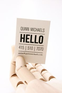 Pretty cool business cards - letterpress too.