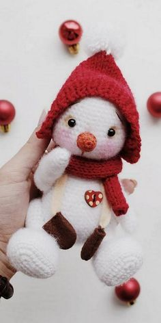 Amigurumi snowman free pattern – Free Amigurumi Patterns Crochet Dolls Free Patterns, Christmas Crochet Patterns, Amigurumi Patterns, Crochet Christmas, Knitting Patterns, Cute Crochet, Crochet Crafts, Crochet Toys, Crochet Projects