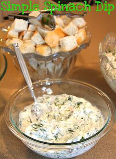 4 ingredient spinach dip
