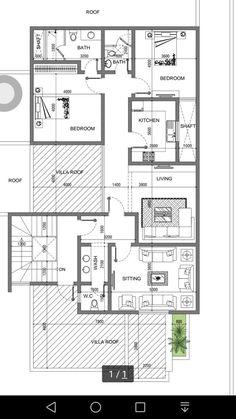 Small House Floor Plans, Bungalow House Plans, Bungalow House Design, New House Plans, Home Design Plans, Plan Design, 20x40 House Plans, Duplex Plans, Villa Plan