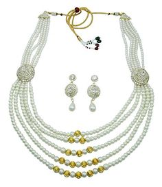 Banithani Traditional Ethnic Indian Bollywood Goldtone Necklace Set Wedding Jewelry >>> Continue to the product at the image link. Necklace Set, Beaded Necklace, Indian Bollywood, Wedding Jewelry, Jewelry Sets, Ethnic, Traditional, Check, Image Link
