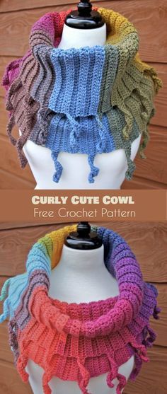 Curly Cute Cowl [Free Crochet Pattern] Follow us for ONLY FREE crocheting patterns for Amigurumi, Toys, Afghans and many more!