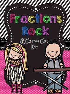 Fractions Rock - A Common Core Unit. For my third grade teacher friends. Great unit. $9