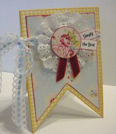 Simply the Best card  - by PSB (Paradise Scrapbook Store) in Chico, California.  Easy different shaped desisign design that can be used for many occasions.