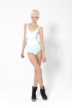 Not Impressed Bunny Swimsuit- eeep need!