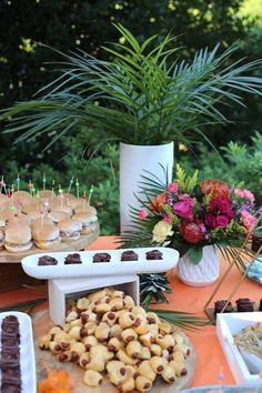 Tropical Food Table from a Sweet 16 Luau on Kara's Party Ideas | KarasPartyIdeas.com (12)
