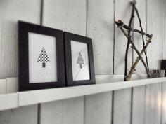 twig star & simple prints