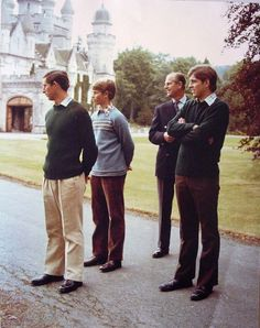 Prince Philip, Duke of Edinburgh with his sons Prince Edward, Prince Charles and Prince Andrew Royal Uk, Royal Queen, Royal Life, Prinz Philip, Prinz Charles, Prince Andrew, Prince Edward, Prince Harry, Prince William