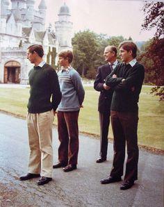 The Royal Family at Balmoral | Royal Collection Trust-Windsor Men-Prince Charles, Prince Edward, Prince Philip, Prince Andrew, Balmoral, 1979