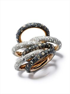 Pomellato Tango Rings- A full stack of them please!