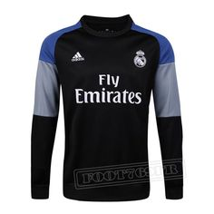 Promo:Le Meilleur Du Nouveau Training Sweatshirt Real Madrid Noir 2016 2017 Slim Personnalise