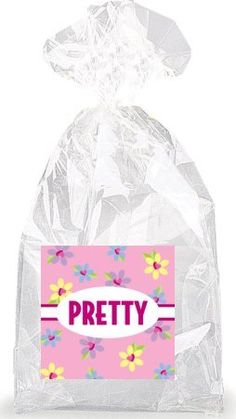 Pretty with Multicolor Flowers Party Favor Bags with Ties - 12pack -- Read more reviews of the product by visiting the link on the image.