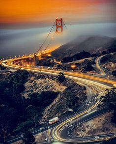 Golden Gate Bridge by @theinkedshooter by CaliforniaFeelings.com california cali LA CA SF SanDiego
