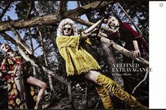 A Refined Extravagance for Alta Moda Supplement (Vogue Italia)