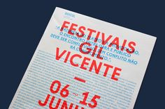 Handout programme for the 2013 edition of the Gil Vicente festival.