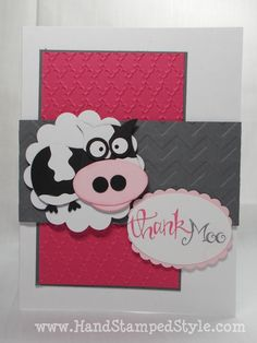 Thank MOO Owl Punch Card - www.HandStampedStyle.com
