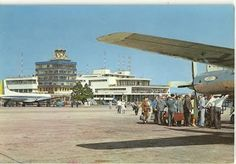 Congonhas airport, São Paulo1960s; flew in here on a Constellation as an exchange student in 1961 - really short runways - might even say scary.