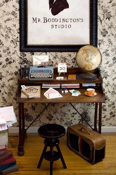 adorable desk area. and i'm mostly saying that because i like the typewriter...