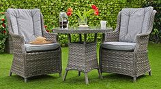 'The Coast' Garden Rattan Effect Bistro Set - Table