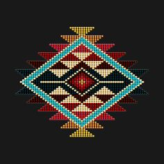 native american beadwork patters Check out this awesome 'Native+American+Style+Rainbow+Sunburst' design on Native Beading Patterns, Beadwork Designs, Loom Patterns, Cross Stitch Patterns, Native American Patterns, Native American Design, Native American Fashion, Indian Beadwork, Native Beadwork