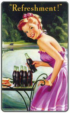 Coca cola refreshment...