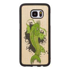 #Colorful Japanese Koi Wood Samsung Galaxy S7 Edge Case - #Petgifts #Pet #Gifts #giftideas #giftidea #petlovers