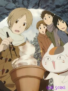 Tags: Calendar (Source), Scan, Self Scanned, Natsume Yuujinchou, Nyanko-sensei… Manga Anime, Anime Art, Natsume Takashi, Cool Anime Pictures, Hotarubi No Mori, Good Anime Series, Otaku Mode, Natsume Yuujinchou, Manga Illustration