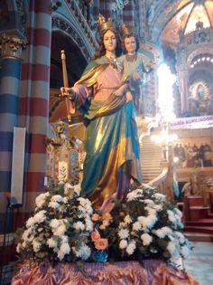 Virgen Maria Auxiliadora en Basilica San Carlos. De la cual es devoto desde joven Francisco I. Barrio Almagro Bs As