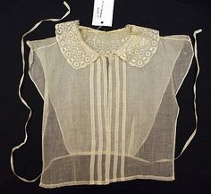 Chemisette Date: mid-19th century Culture: American Medium: cotton Dimensions: Length at CB: 12 in.