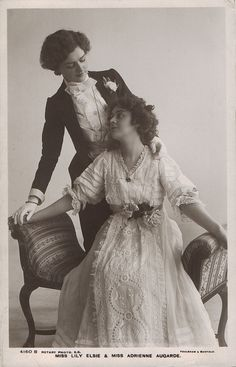 Miss Lily Elsie and Adrienne Augarde circa 1907.