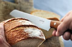 Raadvad breadknive with Kebony maple handle