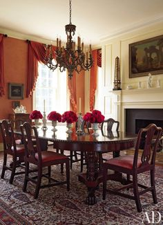 Traditional Dining Room by Alison Martin Interiors Ltd. and Jean Perin Interior Design in Virginia