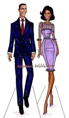 The President of the United States America and the First Lady....