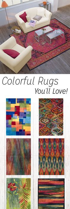 Colorful multicolor area rugs with bold styles and fun designs! Brighten up your home and explore new colors and rug styles! Perfect, affordable area rugs you will love!