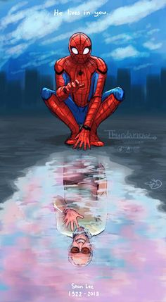 I had to draw something. Stan Lee really was a legend, and even though I only started to understand how great the Marvel movies are at the beginning o.P Stan Lee Marvel Avengers Movies, Marvel Fan Art, Marvel Films, Marvel Heroes, Marvel Characters, Stan Lee Spiderman, Spiderman Art, Amazing Spiderman, Marvel Background