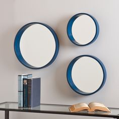 Holly & Martin Daws Navy Wall Mirror 3pc Set   Overstock.com Shopping - The Best Deals on Mirrors