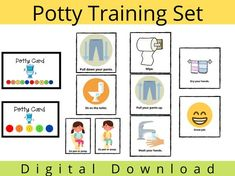 Potty Training Reward Chart, Toddler Potty Training, Toilet Training, Toilet Pictures, Kids Potty, Charts For Kids, Visual Schedules, Special Needs Kids