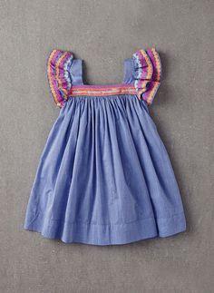 Nellystella Chloe Dress in Light Chambray Denim - Hello Alyss - Designer Children's Fashion Boutique