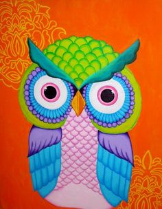'Colorful Owl' by Melodie Lee