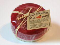 Pedicure Glycerin Soap Pink Grapefruit by GwensHomemadeGifts, $8.00
