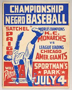 "A circa 1943 Negro Leagues baseball original art poster signed ""S.T. Banks Poster."""