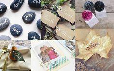 Skal I holde bryllup er her masser af inspiration til jeres bordkort.