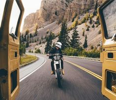 #motorcycle on #road #photography