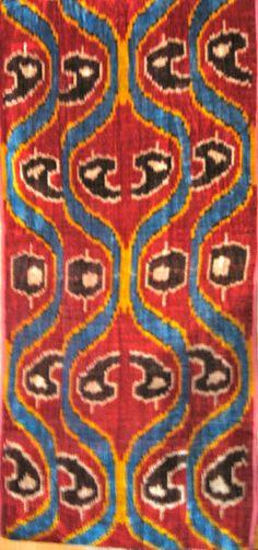Uzbek Silk Velvet by bazaarbayar on Etsy
