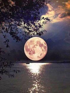 Owl Mosaic, Mosaic Diy, Moon Over Water, Mystic Moon, Gb Bilder, Beautiful Moon, 5d Diamond Painting, Cross Paintings, Diamond Art