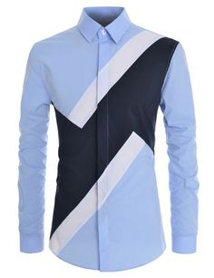 TheLees Men Slim Fit Colorblock Comfortable Stretchy Longsleeve Shirts Buy the Latest Brand Men Casual Shirts and Online Business Formal Shirt at fashion cornerstone. Discounts all season long. African Shirts For Men, African Clothing For Men, Nigerian Men Fashion, African Men Fashion, Mens Fashion Wear, Suit Fashion, Casual Wear For Men, Casual Shirts For Men, Men Shirts